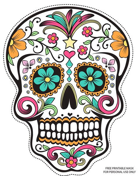 for sugar skull sugar skull printable mask my style