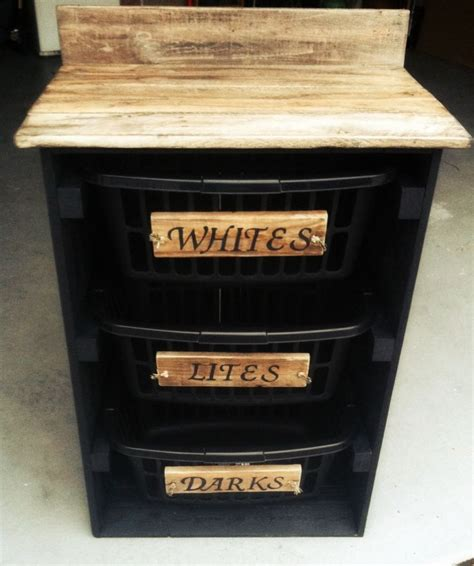diy chalk paint paste wax laundry organizer made from pallets only cost was the