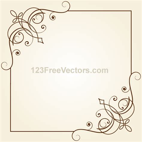 ornaments frames vintage floral ornament frame vector graphics by