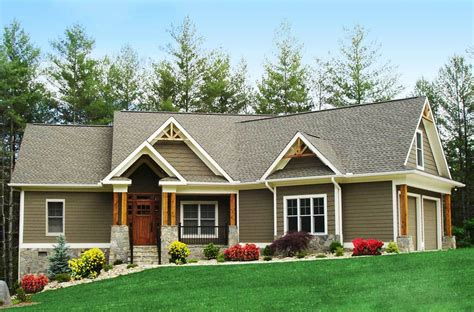 ranch house plans craftsman inspired ranch home plan 15883ge architectural designs house plans