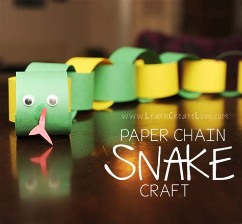 paper chain crafts paper chain snake craft