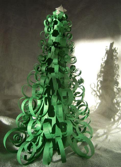 papier weihnachtsbaum easy diy curly tree