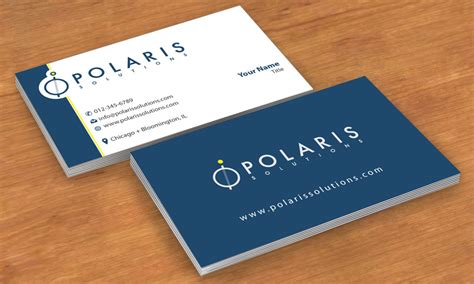 program for business cards business card design for polaris solutions by smart