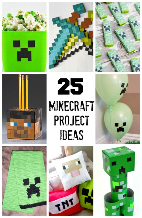 crafting projects 25 minecraft projects will make and takes