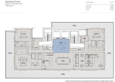 Carriage House Floor Plans floor plans of glass miami beach condo miami