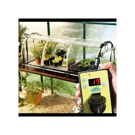 mini serre jumbo avec tapis chauffant et thermostat biogreen plantes et jardins