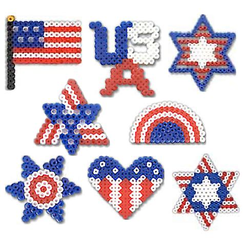 perler days activity proud to be american perler