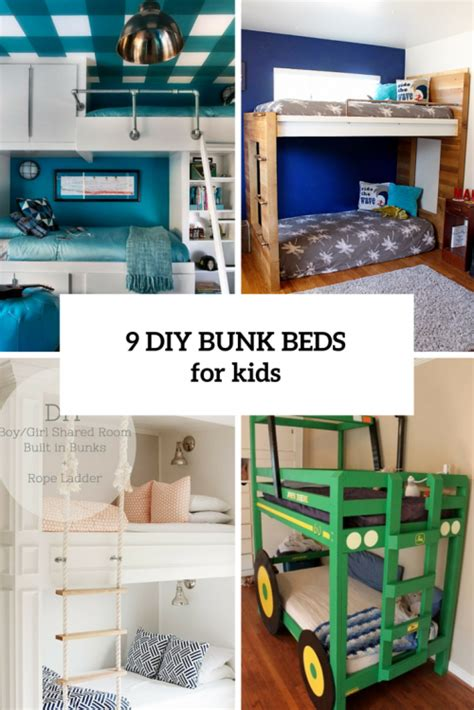 diy bunk beds 9 functional and creative diy bunk beds for shelterness