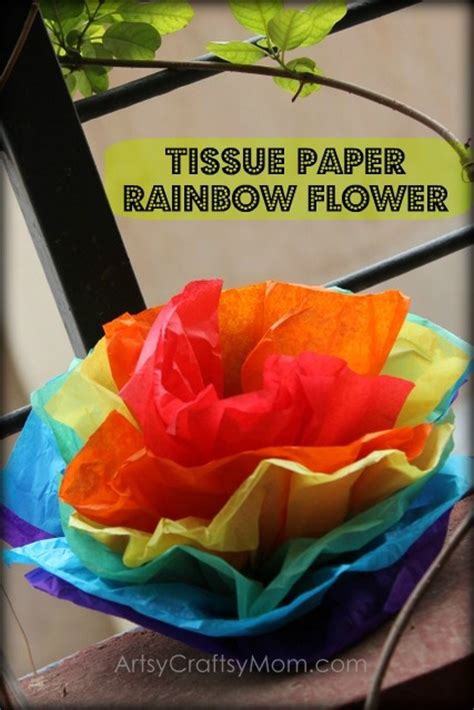 craft from tissue paper tissue paper rainbow flowers artsy craftsy