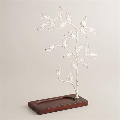 white tree wooden base jewelry stand world market
