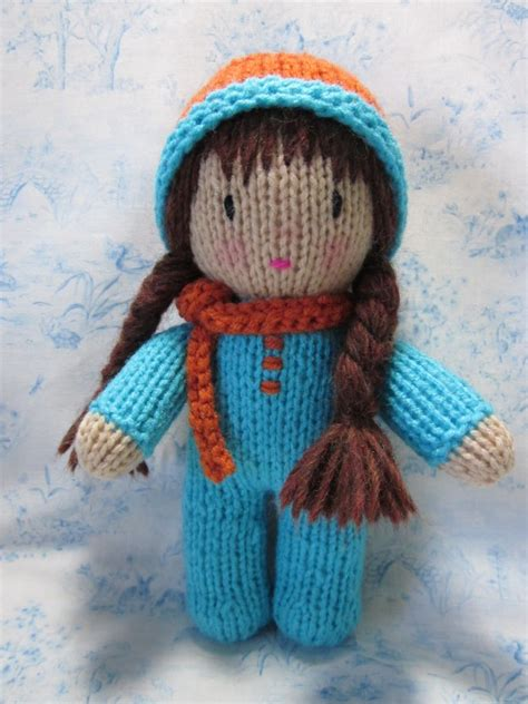 knit doll beth webber with needle and hook and made with by