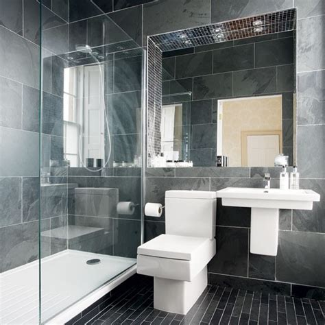 modern gray tile bathroom modern charcoal grey bathroom bathroom designs