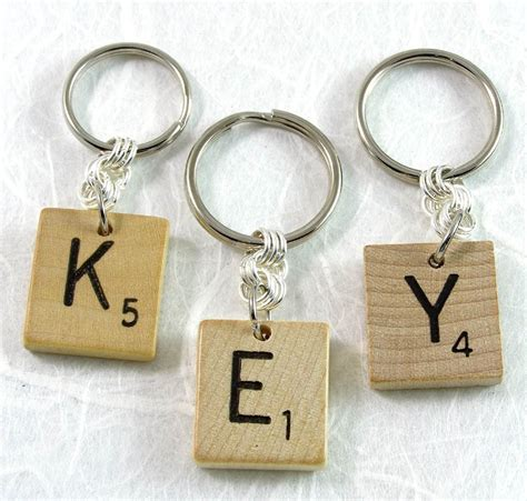 scrabble tile keychain scrabble keychain choose your letter by xohandworks etsy