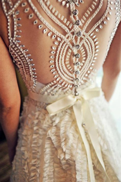 how to bead a dress beaded back a line wedding dress sang maestro