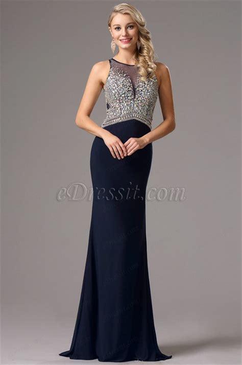 navy beaded evening dress navy blue beaded prom dress evening gown 36161105