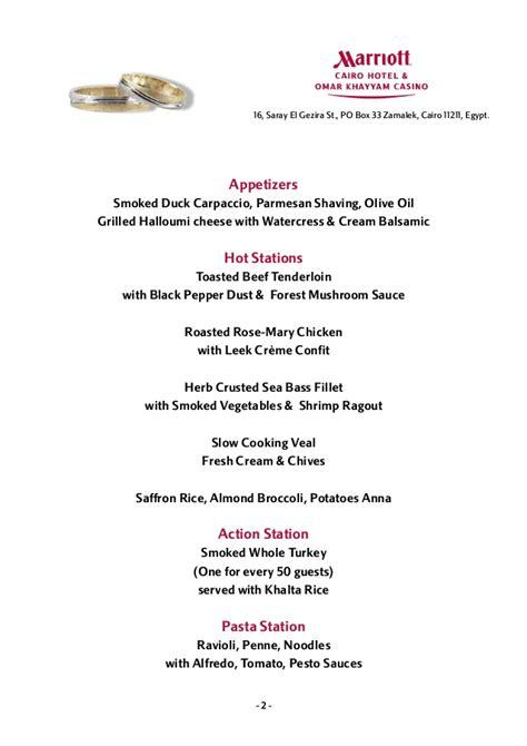 wedding buffets menus wedding buffet menus