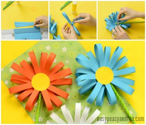 easy flower crafts for paper flower craft easy peasy and