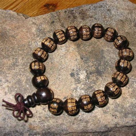 mantras for mala wooden mantra mala with script bracelet zen traditions