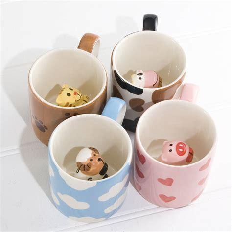 animal mug peekaboo animal mugs by twenty six degrees