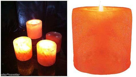 Candle Cylinders by Salt Made Candle Holders Khewra Salt Mine Smc
