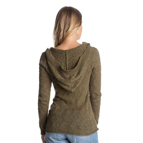 knitted hoodies womens warm knit hoodie erjsw03047