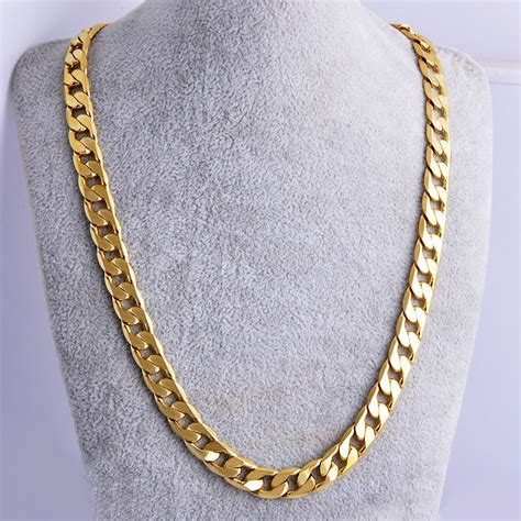how to make gold filled jewelry 18k yellow gold filled link cuban chain necklace 24 quot 7mm