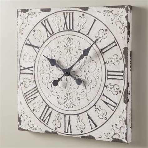 shabby chic large wall clocks large shabby chic clock clocks buttons etc