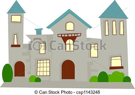 French Manor House Plans stock illustration of mansion simple generic statley