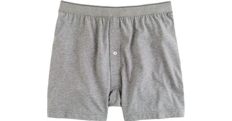 knit boxers j crew knit boxers in gray for lyst