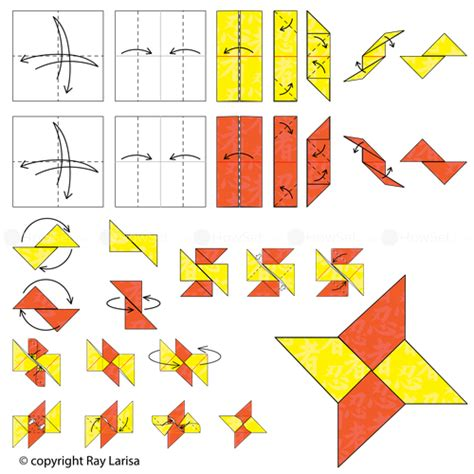 how to make a origami shuriken animated origami how to make origami