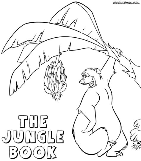 jungle book pictures to colour coloring pages jungle book coloring pages