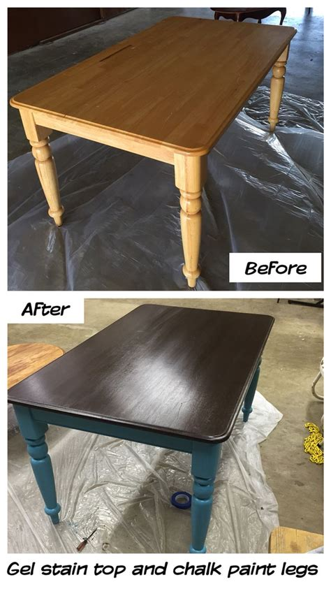 diy chalk paint and stain i painted my kitchen table with general finishes gel