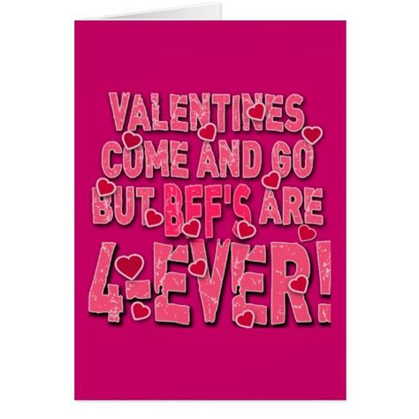 how to make a bff card valentines come go but bff s are forever card zazzle