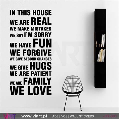 in this house wall stickers vinyl decoration viart