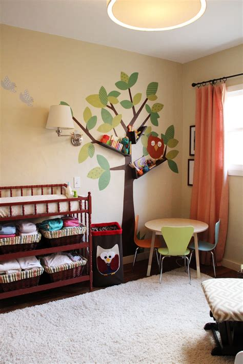 Livingroom Wall Art tree bookshelves that creatively display collections in style