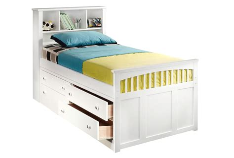 white captains bed bedroom contemporary white captains bed design with