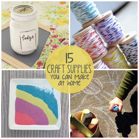 crafts to do with at home 15 craft supplies you can make at home