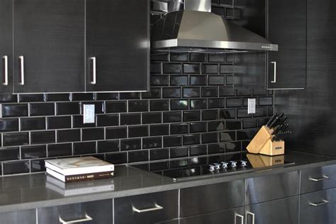 black metal kitchen cabinets black kitchen backsplash design ideas