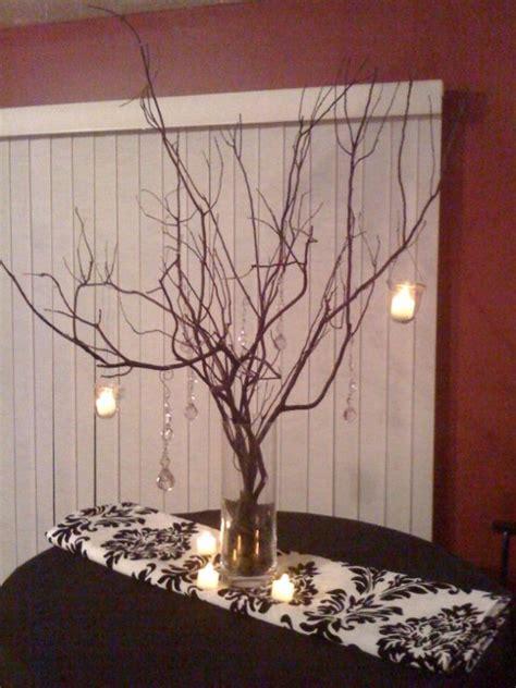 manzanita centerpieces diy manzanita branch centerpiece in progress weddingbee