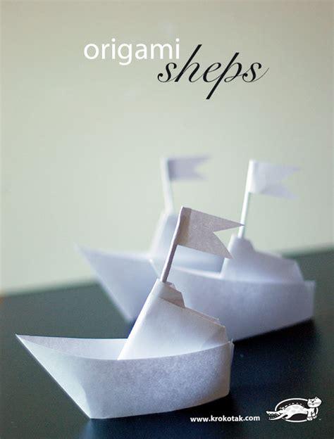 origami ships krokotak origami ship