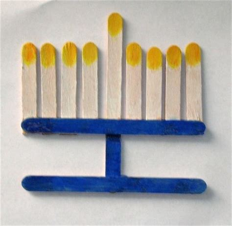 hanukkah arts and crafts for how to make a menorah for suite101