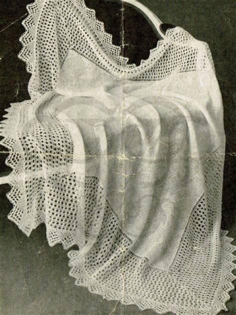 lace scarf knitting patterns uk 1900s lace brodered shawl knitting pattern
