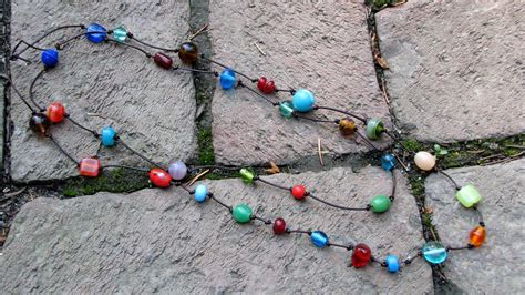 how to make easy jewelry easy to make bead and knot necklace