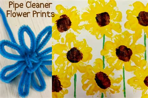 sunflower crafts for choices for children pipe cleaner sunflower prints