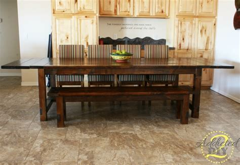 Extendable Dining Table Plans diy farmhouse table with extensions addicted 2 diy