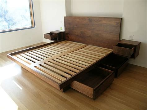 built in bed frame 25 best ideas about wooden beds on farmhouse