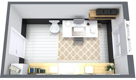 2d Floor Plan In 9 essential home office design tips roomsketcher blog