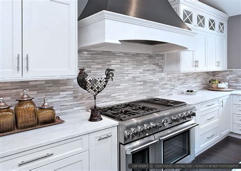 modern kitchen tiles white modern subway marble mosaic backsplash tile