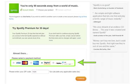 can i make car payments with credit card how to get a spotify premium free trial without getting