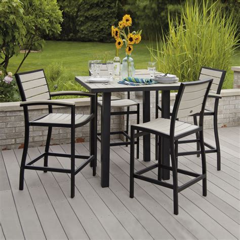 bar height patio dining set furniture high bar table set image bar stool and table
